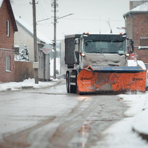 Sniegu pasidengusios Kauno gatvės