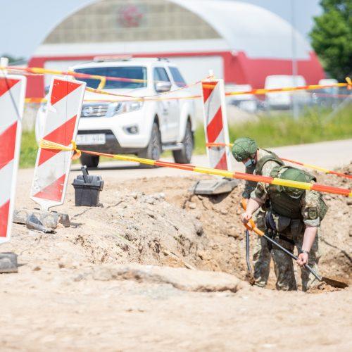 Aleksote rastos dvi aviacinės bombos  © Justinos Lasauskaitės nuotr.