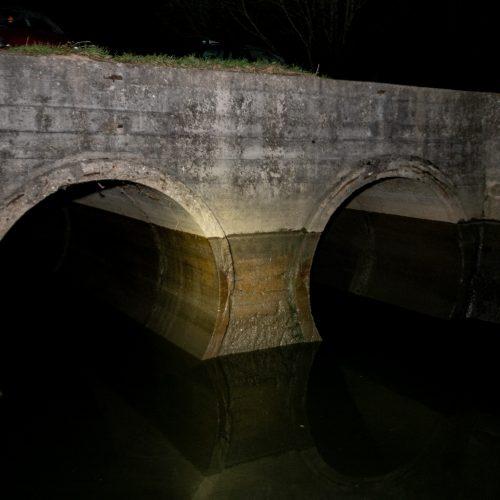 Netoli Kauno hidroelektrinės iš dviejų vamzdžių į Nemuną išsiliejo teršalai  © Justinos Lasauskaitės nuotr.