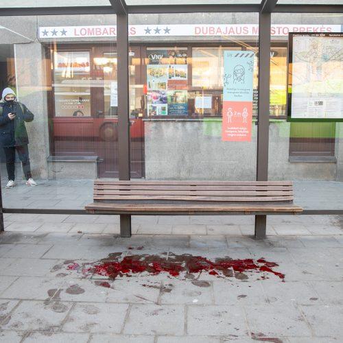 Kraujo klanas prie Kauno autobusų stoties