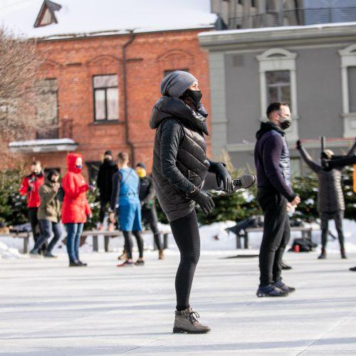 Sporto entuziastų protestas persikėlė prie Kauno miesto savivaldybės