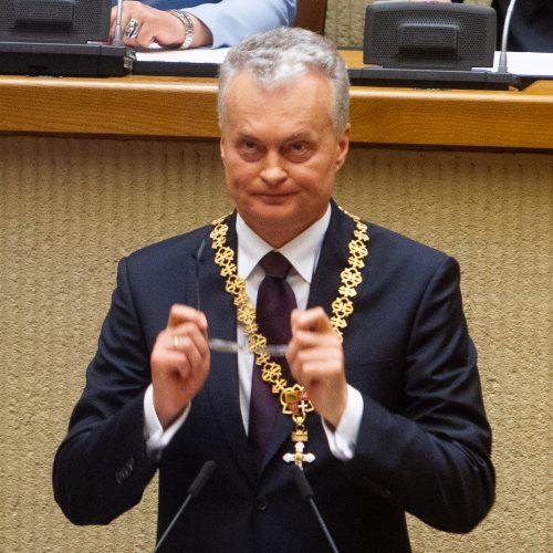 G. Nausėdos priesaikos ceremonija Seime  © G. Skaraitienės, I. Gelūno / Fotobanko nuotr.