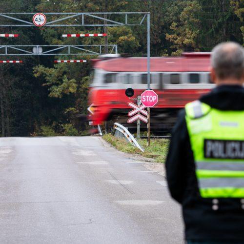 Prie geležinkelio pervažų – policijos akcija  © I. Gelūno / Fotobanko nuotr.