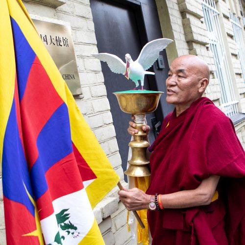 Su taikos misija į Lietuvą atvyko Tibeto vienuolis