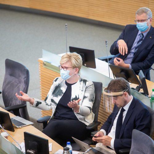 Susisiekimo ministras atsakinėjo į Seimo narių klausimus  © I. Gelūno / Fotobanko nuotr.