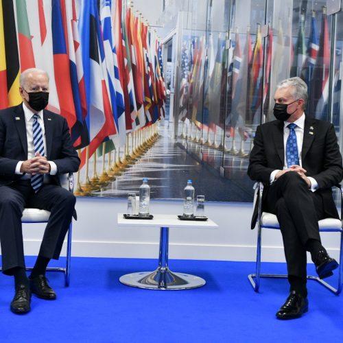 Baltijos šalių vadovų susitikimas su J. Bidenu