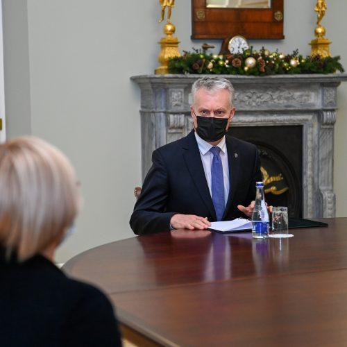G. Nausėda susitiko su kandidate į ministrus J. Šiugždiniene  © I. Gelūno / Fotobanko, R. Dačkaus / Prezidentūros nuotr.