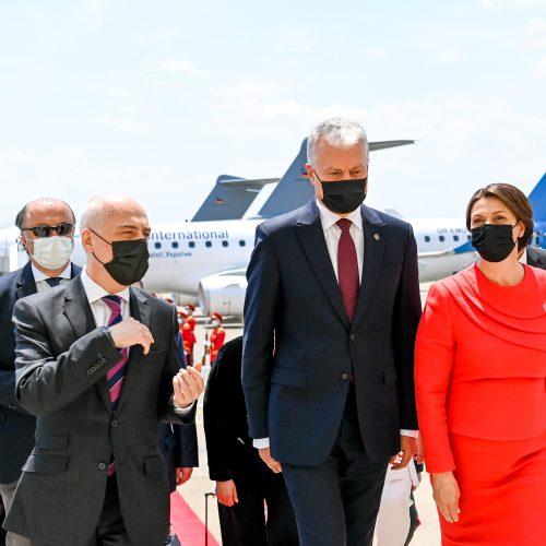 G. Nausėda atvyko į Sakartvelą  © R. Dačkaus / Prezidentūros nuotr.