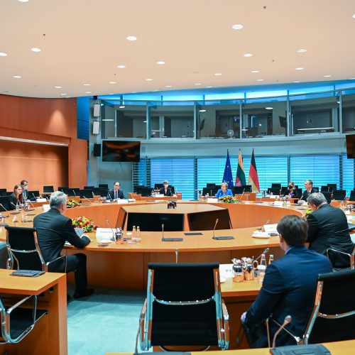 G. Nausėdos vizitas Vokietijoje  © R. Dačkaus / Prezidentūros nuotr.