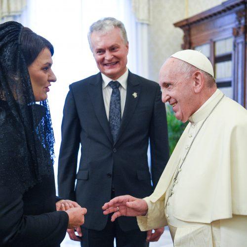 G. Nausėda susitiko su popiežiumi
