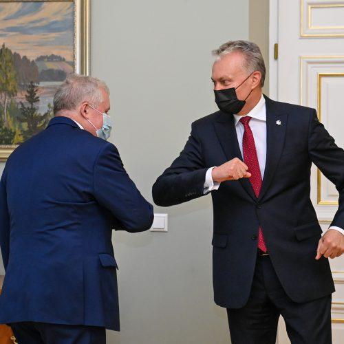 G. Nausėda susitinka su kandidatu į ministrus A. Anušausku