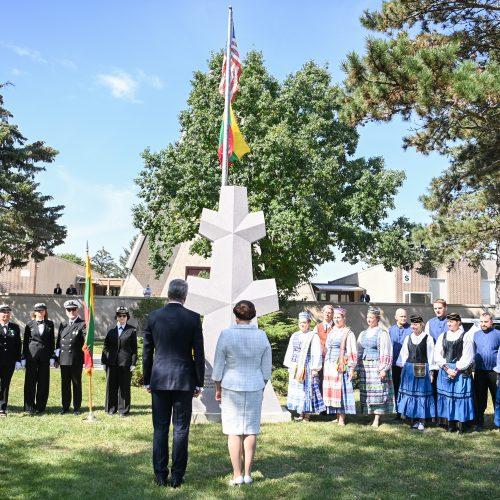 G. Nausėda Čikagoje susitiko su emigrantų šeimomis  © R. Dačkaus / Prezidentūros nuotr.