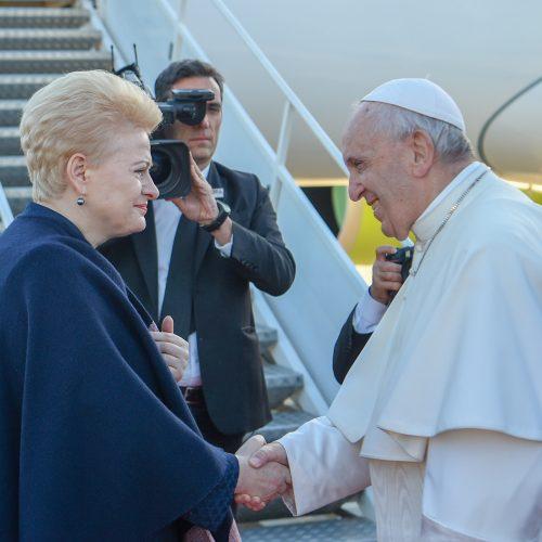 Popiežius Pranciškus atsisveikino su Lietuva  © Mariaus Morkevičiaus /ELTOS, Prezidentūros kanceliarijos nuotr.