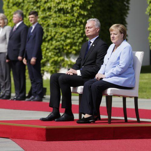 G. Nausėdos susitikimas su A. Merkel  © Scanpix, Prezidentūros nuotr.