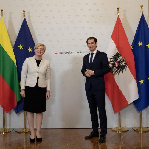 Premjerės vizitas Austrijoje  © L. Penek / Vyriausybės kanceliarijos nuotr.