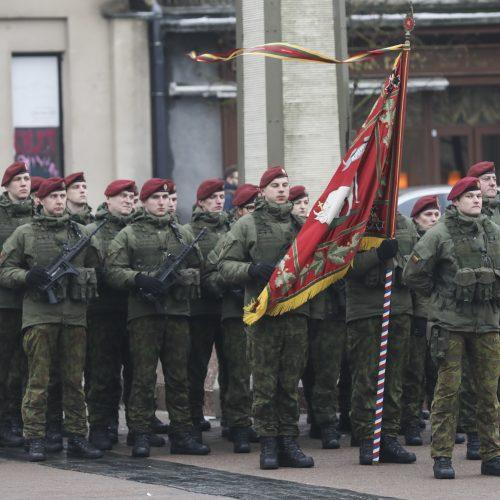 Iškilminga karių savanorių rikiuotė  © Mariaus Morkevičiaus / ELTOS nuotr.