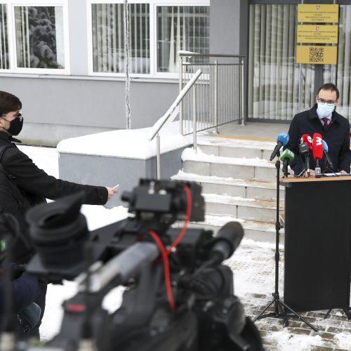 NVSC vadovo spaudos konferencija  © M. Morkevičiaus / ELTOS nuotr.
