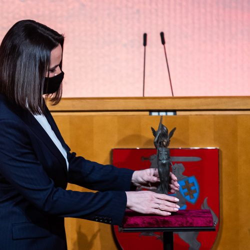 Laisvės premija – S. Cichanouskajai