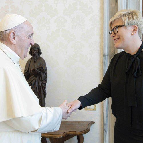 Lietuvos premjerė susitiko su popiežiumi