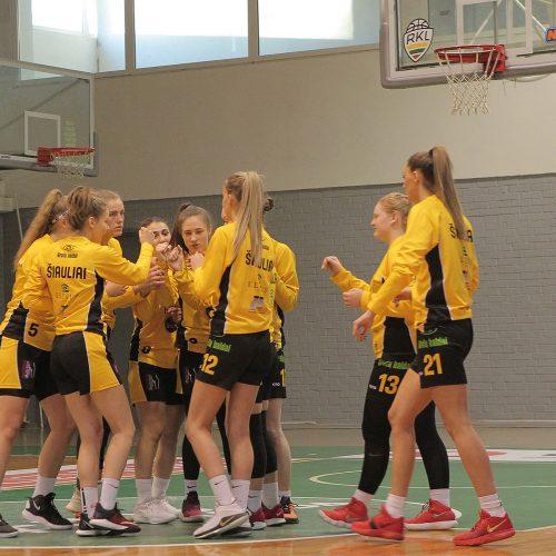 """Moterų lyga: """"Aistės-LSMU"""" – """"Šiauliai-Uni."""" 77:58  © Evaldo Šemioto nuotr."""