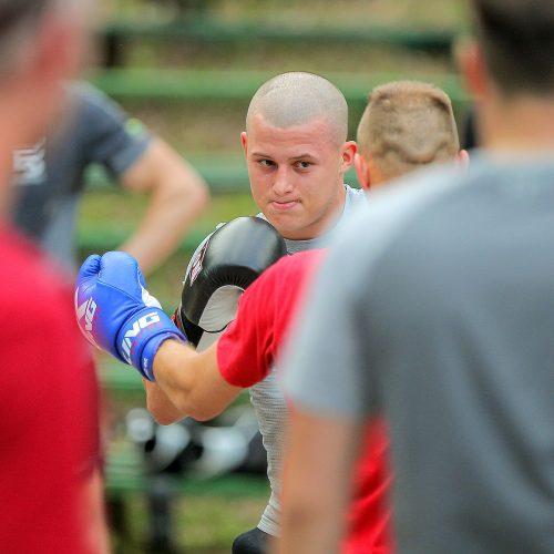 E. Stanionio bokso treniruotė kauniečiams  © Evaldo Šemioto nuotr.