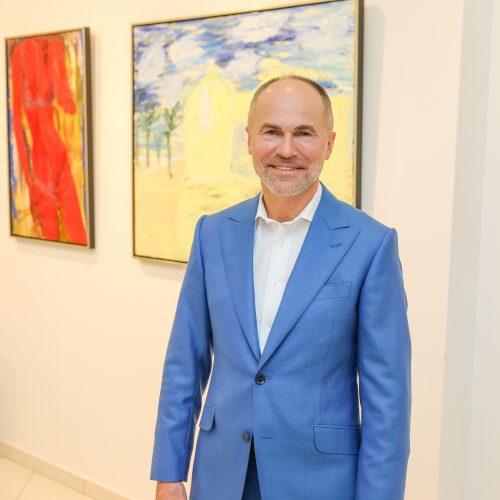 S. Vikšraičio tapybos parodos atidarymas