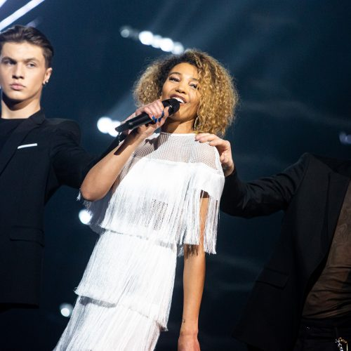"""Trečiosios """"Eurovizijos"""" nacionalinės atrankos filmavimas  © G. Skaraitienės / Fotobanko nuotr."""