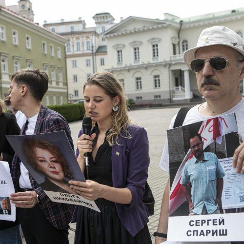 Protestas prieš žmogaus teisių pažeidimus Baltarusijoje   © P. Peleckio / Fotobanko nuotr.