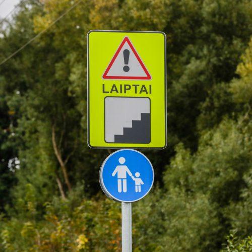 Ramučiuose esančiame dviračių take – laiptai  © T. Biliūno / Fotobanko nuotr.
