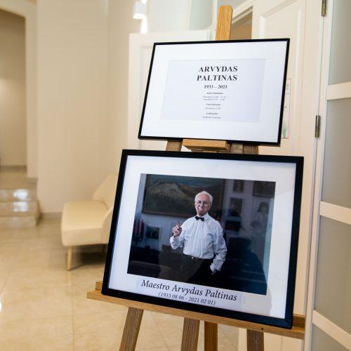 Atsisveikinimas su maestro A. Paltinu
