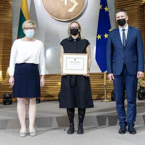 Dvylikai kūrėjų įteiktos Vyriausybės kultūros ir meno premijos  © Vyriausybės nuotr.