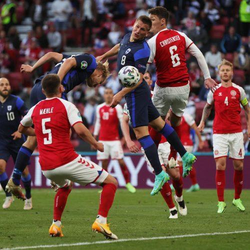 Europos futbolo čempionatas: Danija-Suomija 0:1