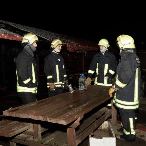 Šilainių turgavietėje kilo didžiulis gaisras  © Justinos Lasauskaitės nuotr.