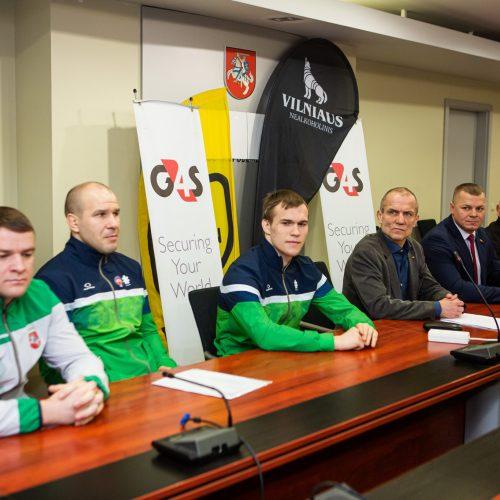 Lietuvos imtynių federacijos spaudos konferencija