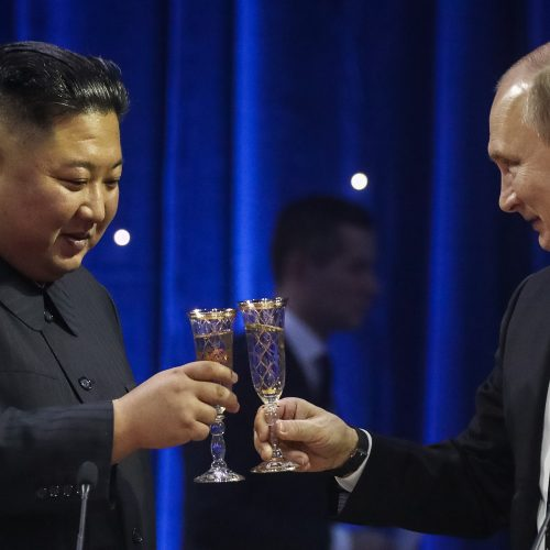 V. Putino ir Kim Jong Uno susitikimas Vladivostoke