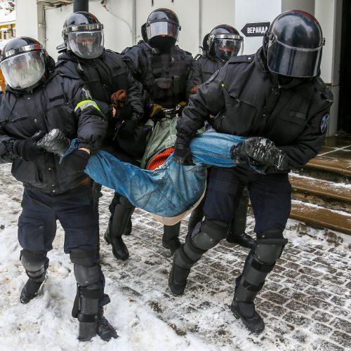 Masinės demonstracijos Rusijoje