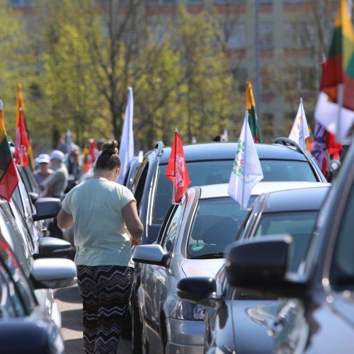 """""""Didžiojo šeimos gynimo maršo"""" dalyvių pasiruošimas Akademijoje  © Laimučio Brundzos, Aliaus Koroliovo nuotr."""