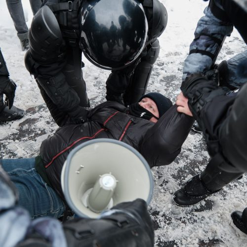 Masinės demonstracijos Rusijoje  © Scanpix nuotr.