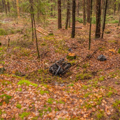 Kraupi avarija Kauno rajone  © Laimio Steponavičiaus nuotr.
