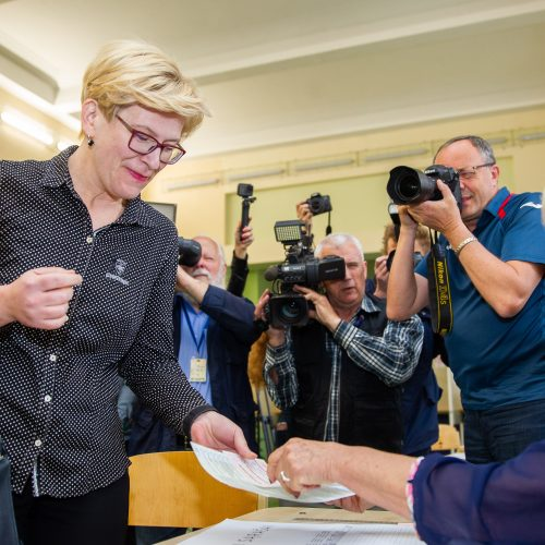 I. Šimonytė balsavo antrajame Lietuvos prezidento rinkimų ture