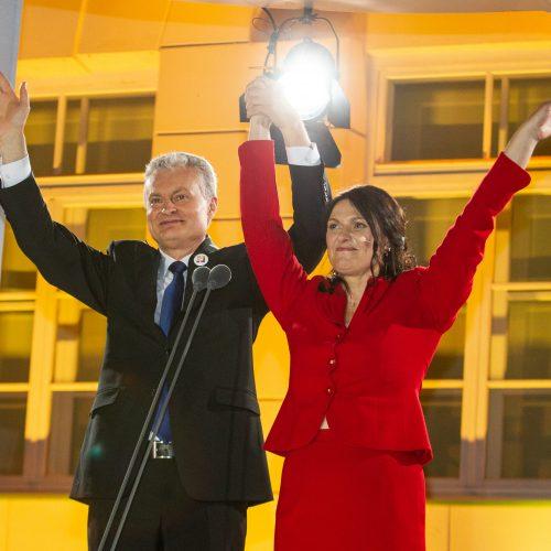 G. Nausėdos kalba S. Daukanto aikštėje  © P. Peleckio / Fotobanko nuotr.