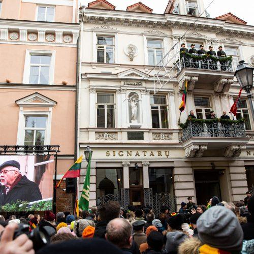 Vasario 16-osios minėjimas prie Lietuvos nepriklausomybės signatarų namų  © G. Skaraitienės / Fotobanko nuotr.
