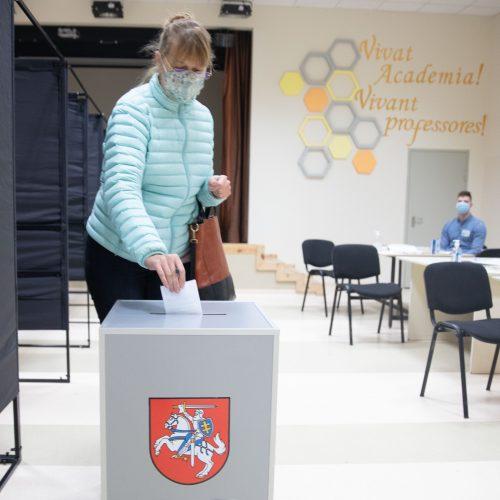 Seimo rinkimų antrojo turo paskutinės balsavimo minutės