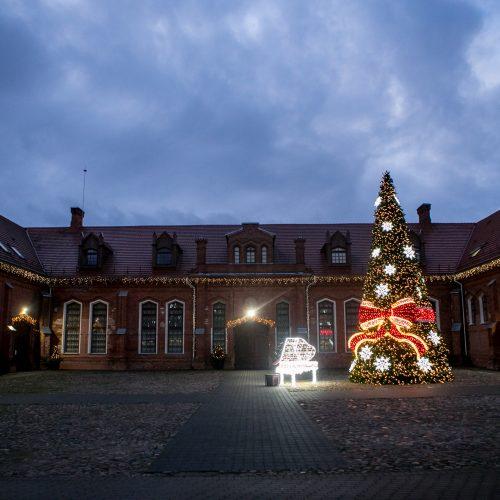Raudondvaryje įžiebta kalėdinė eglutė  © Vilmanto Raupelio nuotr.