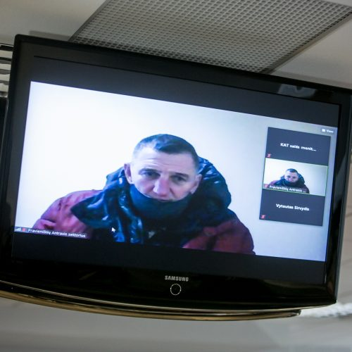 Teismas paskelbė, kad H. Daktaras lieka įkalintas iki gyvo galvos  © Vilmanto Raupelio nuotr.