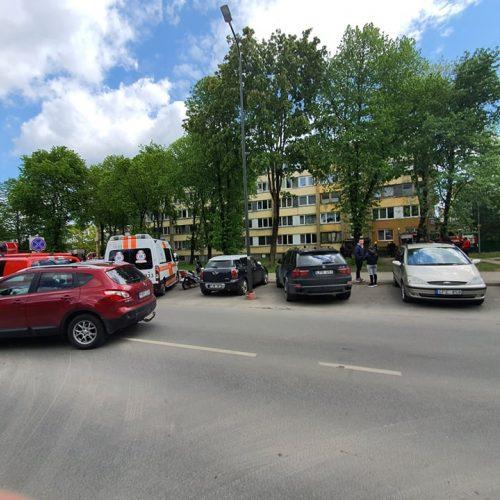 Gaisras Partizanų gatvės daugiabutyje  © Eitvydo Kinaičio nuotr.