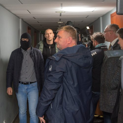 Į teismą atvestas korupcija įtariamas vienas iš Kauno ekonominės policijos vadovų  © Butauto Barausko nuotr.