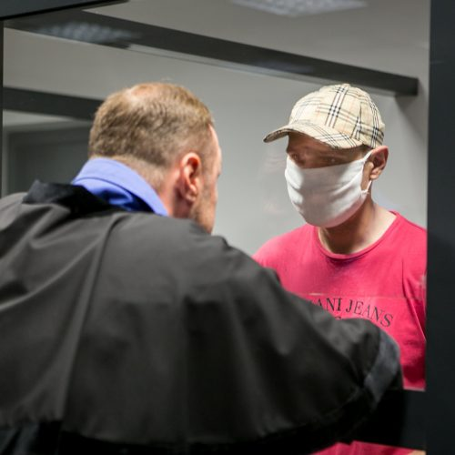 Žiauri žmogžudystė Romainiuose: kaltinamojo A. Norkūno teismas