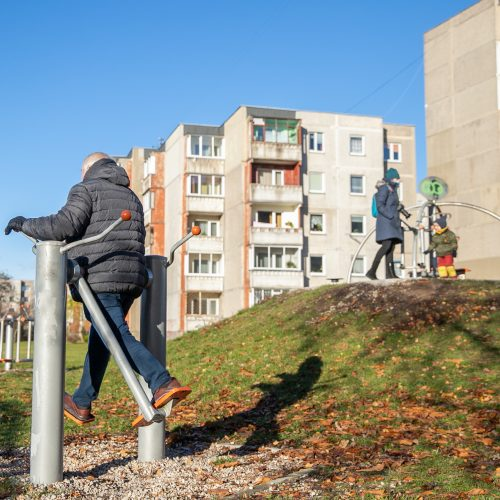 Sportuojantys žmonės Kauno parkuose  © Justinos Lasauskaitės nuotr.