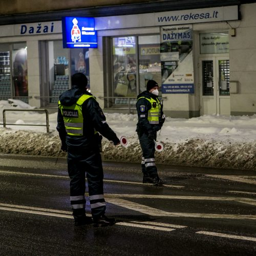Kauno kelių policijos reidas, ieškant neblaivių vairuotojų  © Vilmanto Raupelio nuotr.